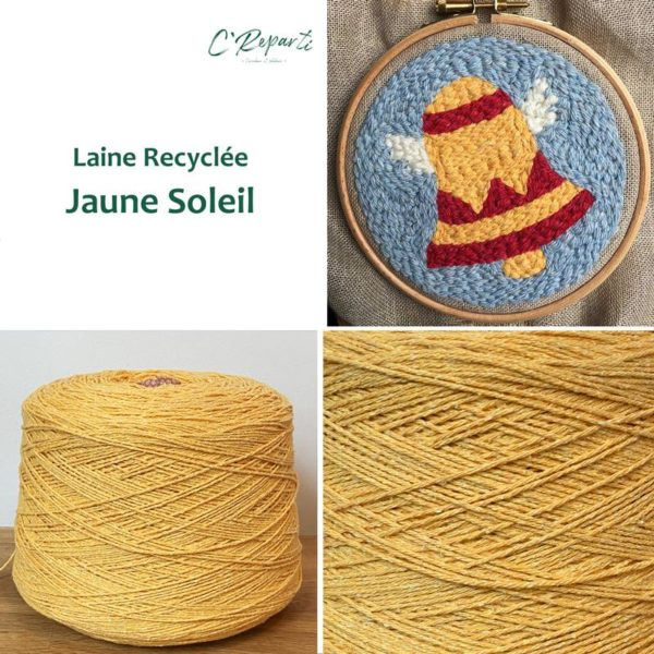 laine recyclee jaune soleil
