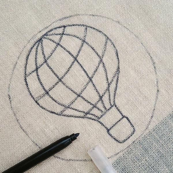 montgolfiere tutomotif kit punch needle garcon vehicule fabrique en france circulaire solidaire cadeau enfant adulte deco 2 zero dechet