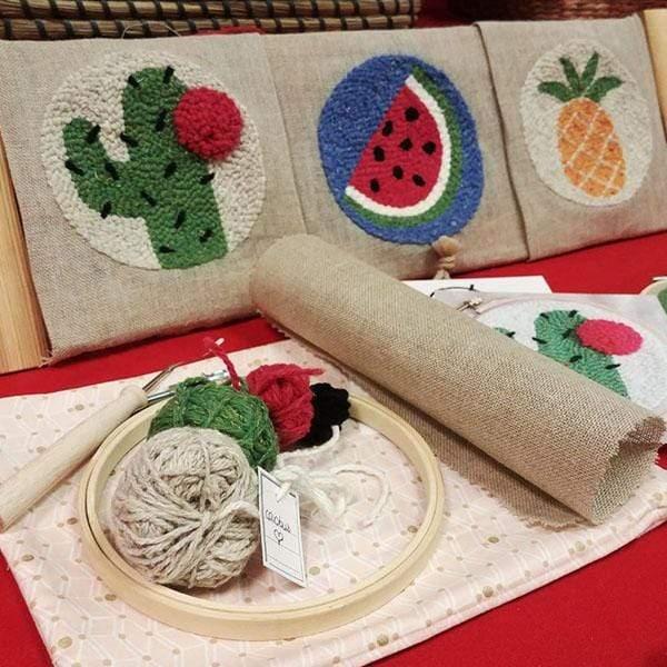 sac tissu kit punch needle made in france motif cactus pasteque ananas deco ado f3f46cab abe4 4acf 8f80 052df66dd037
