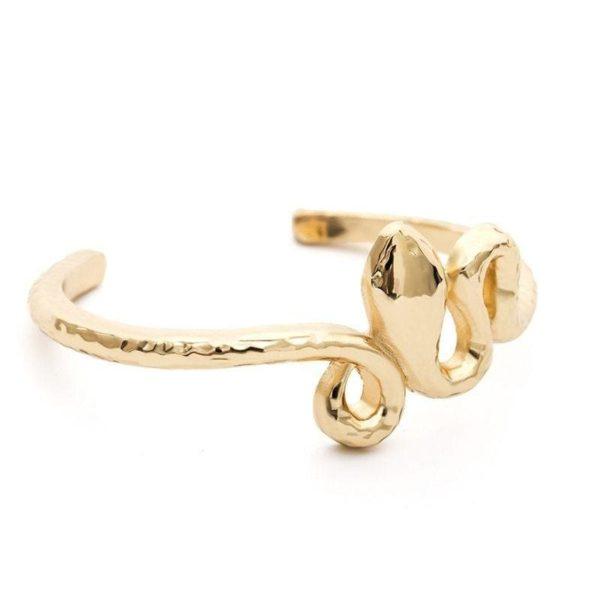 14k Gold Snake Bracelet 1