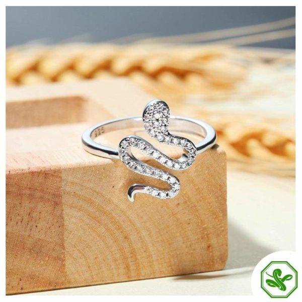 925 Sterling Silver Snake Ring 3