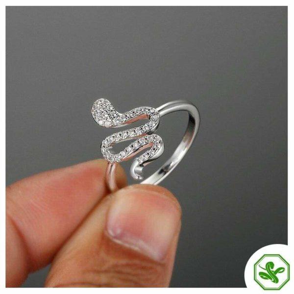 925 Sterling Silver Snake Ring 4