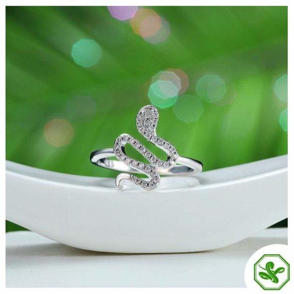 925 Sterling Silver Snake Ring 2