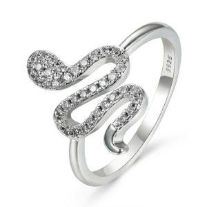 925 Sterling Silver Snake Ring 1