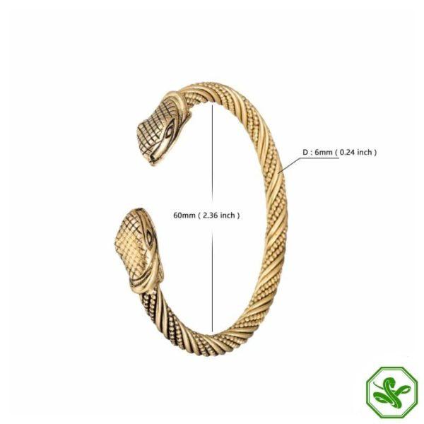 celtic snake bracelet length