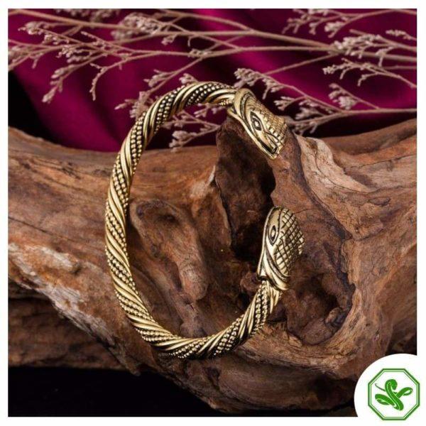 celtic gold snake bracelet