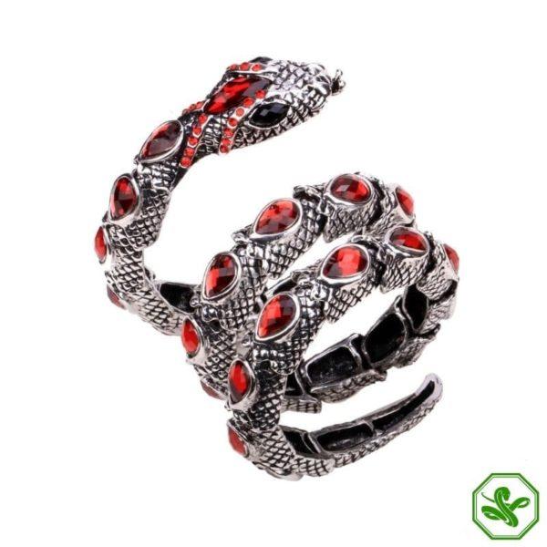 red  snake arm bracelet