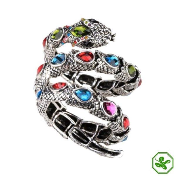 Multicolor snake arm bracelet