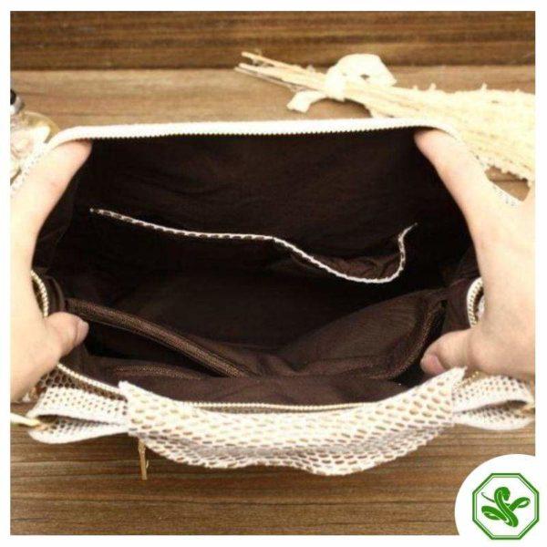 Beige Snake Print Bag 7