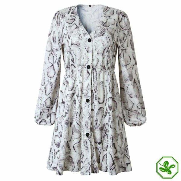 Black And White Snakeskin Dress 3