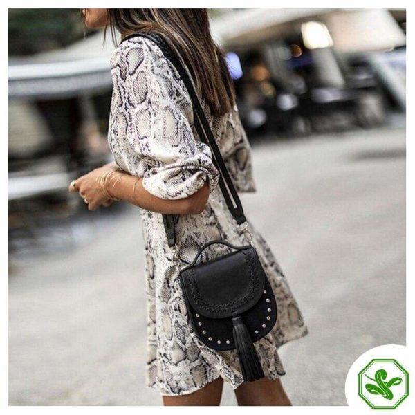 Black And White Snakeskin Dress 2