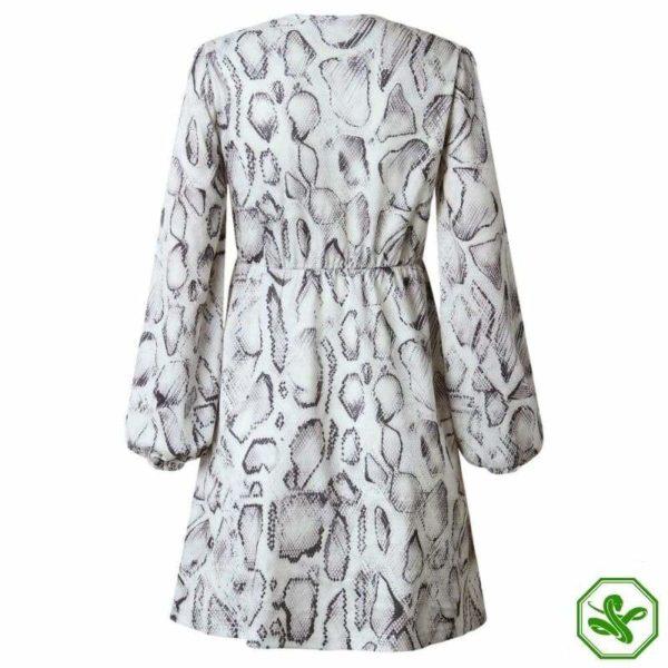 Black And White Snakeskin Dress 4