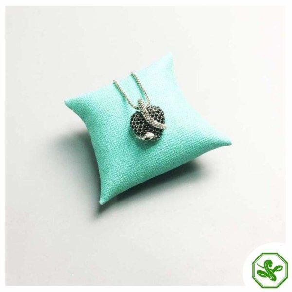 black heart snake pendant