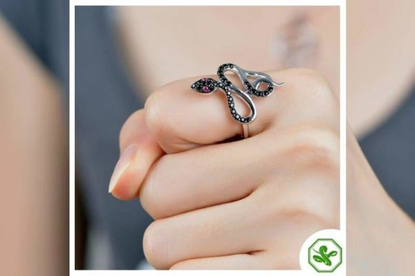 Black Diamond Snake Ring 2