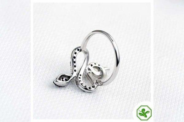 Black Diamond Snake Ring 5