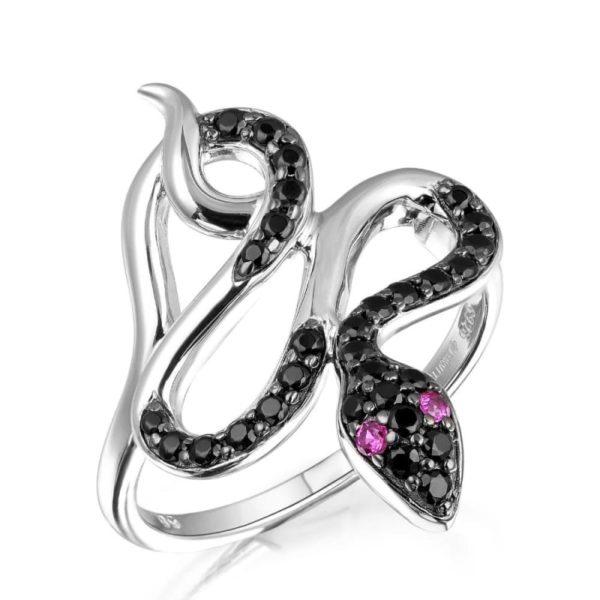Black Diamond Snake Ring 1
