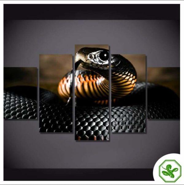 snake painting of a black mamba