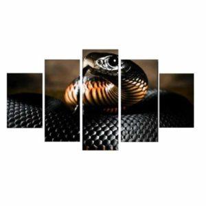 Black Mamba Snake Painting