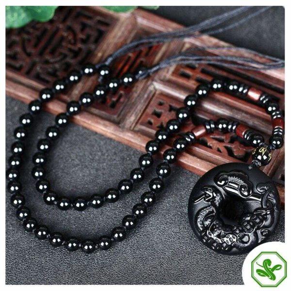 Black Obsidian Necklace 3