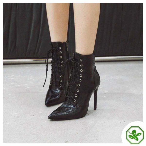 black snake print boots