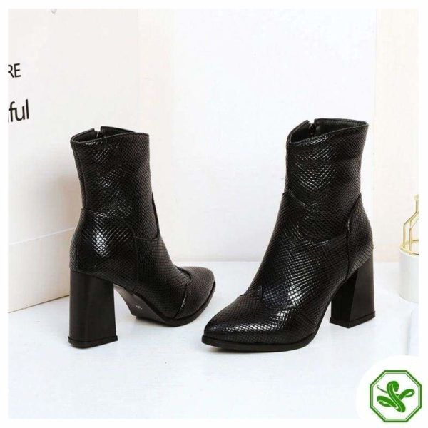 Black Snakeskin Boots 5