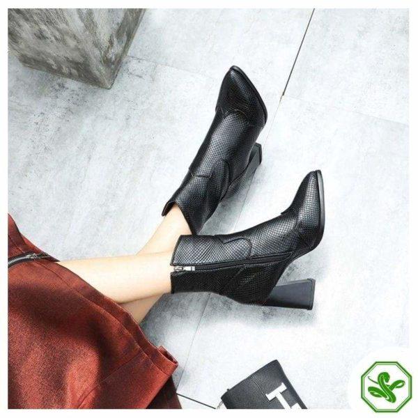 Black Snakeskin Boots 4