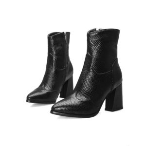 Black Snakeskin Boots 1