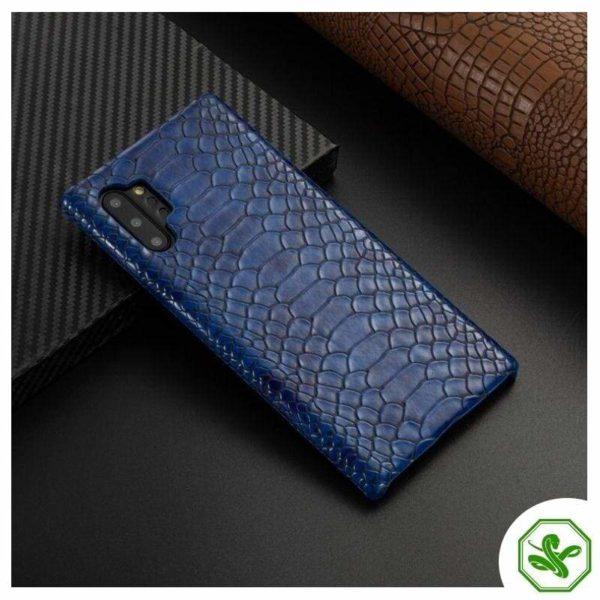 Snakeskin Samsung Phone Case Blue
