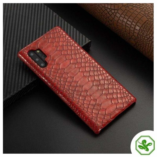 Snakeskin Samsung Phone Case Red