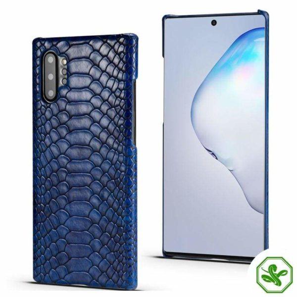 Blue Snakeskin Samsung Phone Case