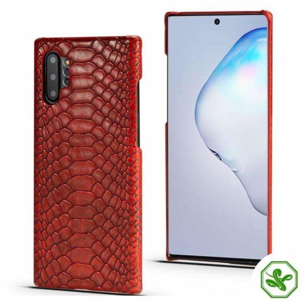 Red Snakeskin Samsung Phone Case