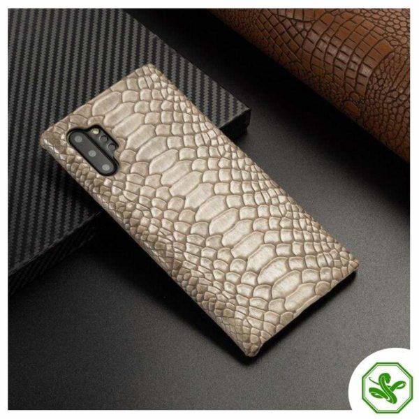 Snakeskin Samsung Phone Case Beige