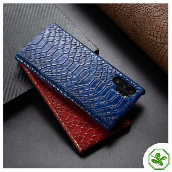 Snakeskin Samsung Phone Cases Blue and red