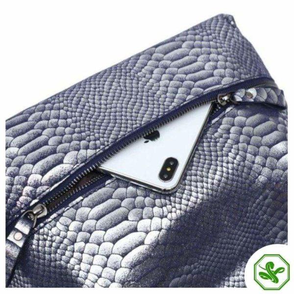 Blue Snake Print Bag 2
