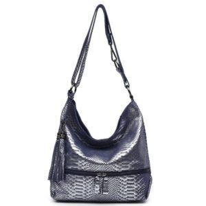 Blue Snake Print Bag 1