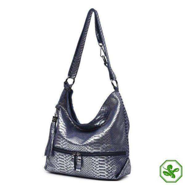 Blue Snake Print Bag 8