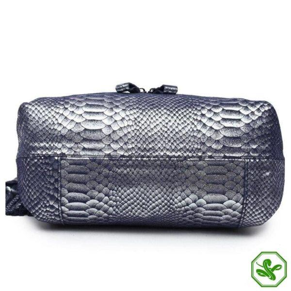 Blue Snake Print Bag 6