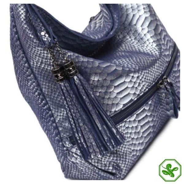 Blue Snake Print Bag 5