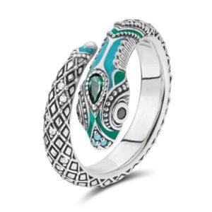 blue-snake-ring 1