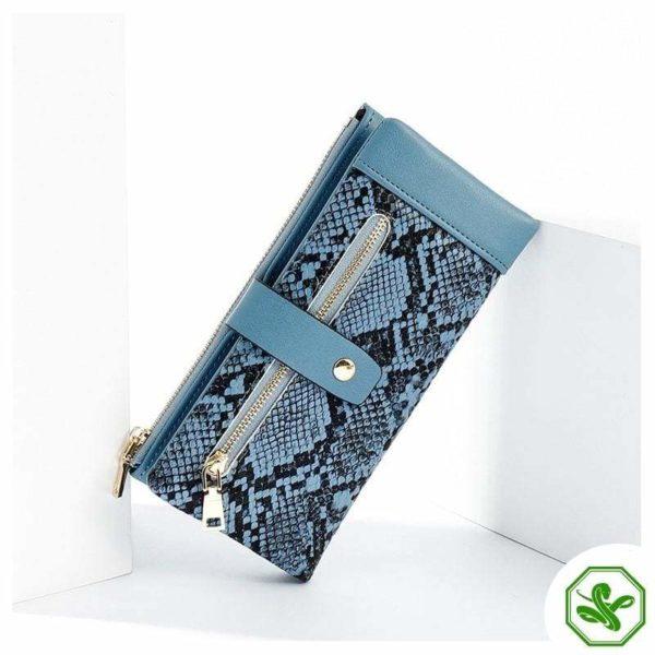 Snakeskin Wallet Blue