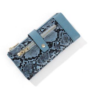 Blue Snakeskin Wallet