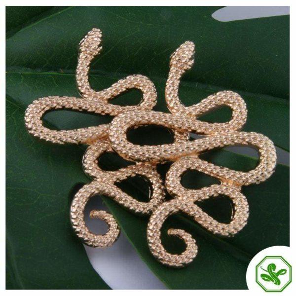 gold snake cuff earrings