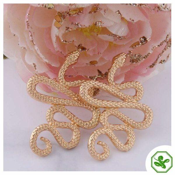 shiney snake cuff earrings