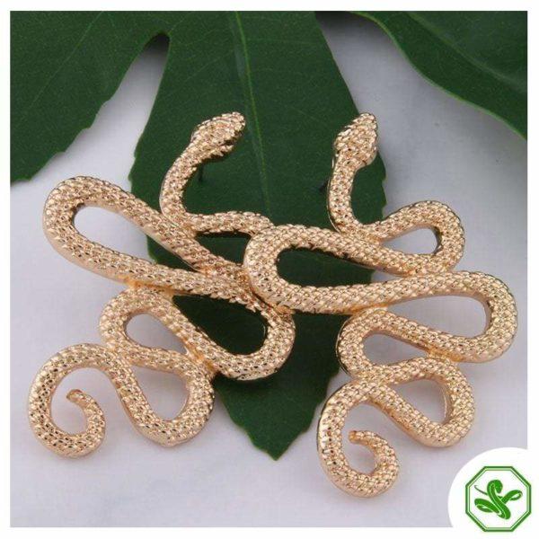 snake earrings gold