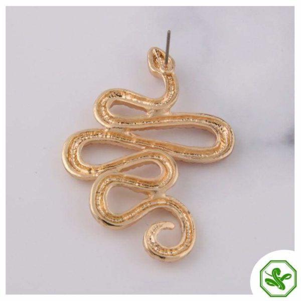 snake ear cuff earrings
