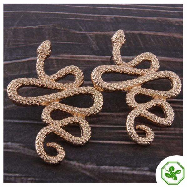 gold snake earrings cuff