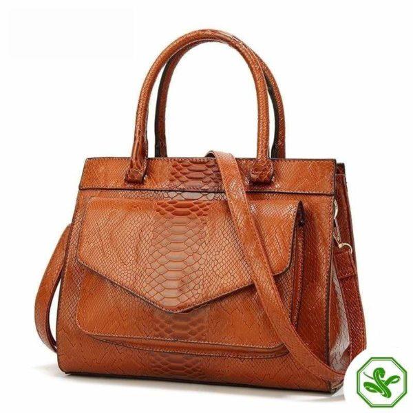 Brown Snake Print Bag 2