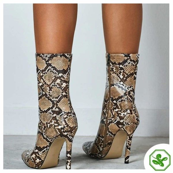 tall brown snakeskin boots