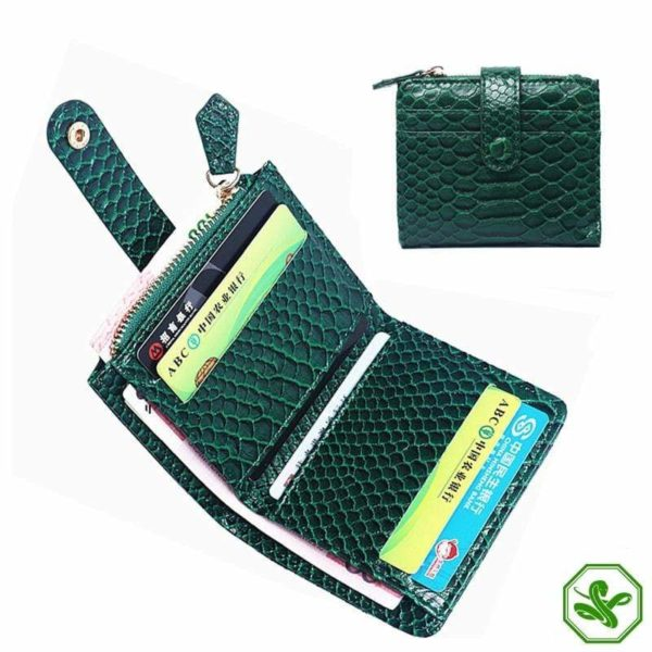 Snake Wallet Green