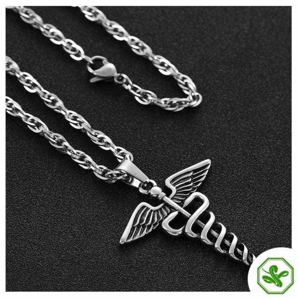 Caduceus Necklace | Snake Dream 11